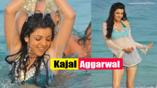 Kajal Agarwal Beach Photos from Businessman Movie