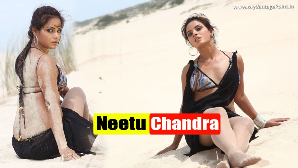 Neetu Chandra on beach, Neetu Chandra hot back, Neetu Chandra sexy photoshoot in sand, Neetu Chandra hot in black