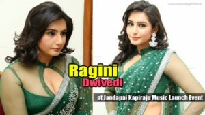 Read more about the article Ragini Dwivedi in Sexy Saree Showing Some Really HOT Stuff at Jandapai Kapiraju Music Launch Event