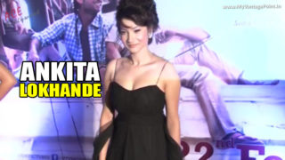 TV Actress Ankita Lokhande Hot in Black Dress