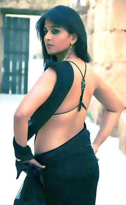 Anushka Shetty Hot Spicy Sexy Backshow in Saree  & Mini Tight Dresses..DAMN HOT - VP (64)
