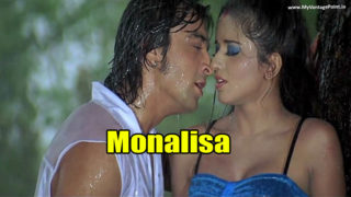 Bhojpuri Actress Monalisa Totally Wet In Rain Romancing With Hero Spicy HQ Screen Caps