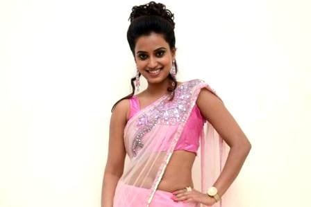Dimple Chopade's Sexy Seductive Spicy Navel Show in Transparent Pink Saree