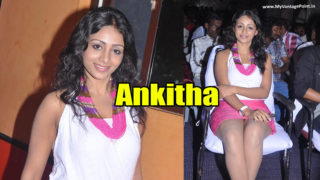 Ankitha in Sexy White Top & Pink Skirt for Her Tamil Movie Neengatha Ennam Audio & Trailer Launch Event