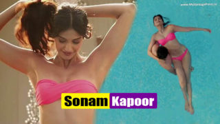 Sonam Kapoor Flaunting Her Curves in Bikini in Movie Bewakoofiyaan HQ Image