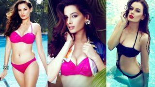 Uber-Sexy Evelyn Sharma in a Tiny Sexy Bikini Photoshoot ..HOT AS HELL!