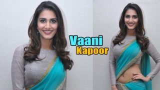 Vaani Kapoor In Sexy Saree at Aaha Kalyanam Press Meet