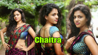 Chaitra Hot Spicy Sexy Navel Show in Beautiful Saree..SENSUOUS