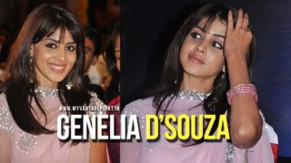Cute Genelia in Pink Churidar at an event looking Beautiful