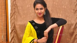 Avika Gor Famous for Balika Vadhu Looking Very Cute in Suite for Uyyala Jampala Movie Audio Launch