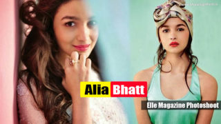 Hot and Young Alia Bhatt latest Elle Magazine Photoshoot