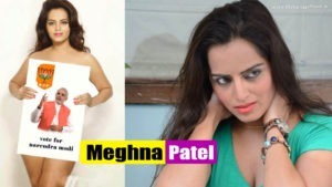 Meghna Patel Supporting Narendra Modi and Collecting Vote for Him by Posing Nude