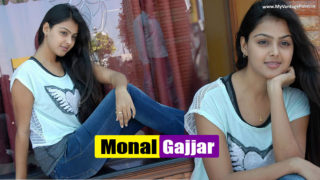 Monal Gajjar Cute & Sweet Photos in White Top & Blue Jeans