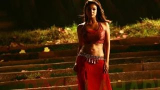Nayantara Steamy Wet Dance in Sexy RED Dress in Sathyam Movie