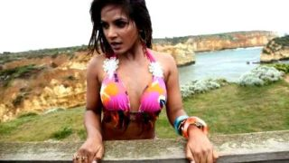 Neetu Chandra Hot Navel Show In Pink Sexy Bikini