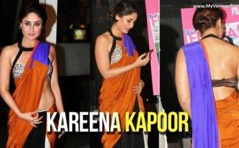 Kareena Kapoor in Orange Saree