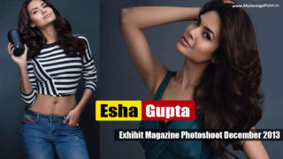 Esha Gupta Hot Exhibit Magazine Photoshoot December 2013 Pictures