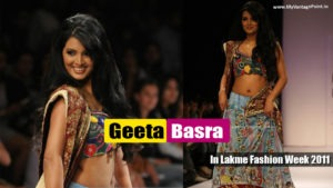 Read more about the article Geeta Basra – Dusky Hottie walked the Ramp in beautiful dress at Lakme Fashion Week 2011