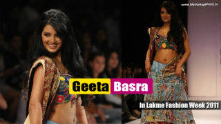 Geeta Basra – Dusky Hottie Flauting Her Spicy Navel on Ramp in Sexy Dress in Lakme Fashion Week 2011