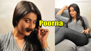 South Actress Poorna in Tight Jeans Posing Seductively On A Couch