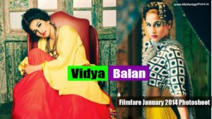 Read more about the article Vidya Balan Sexy Spicy Filmfare January 2014 Photoshoot
