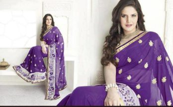 Zareen Khan saree photos