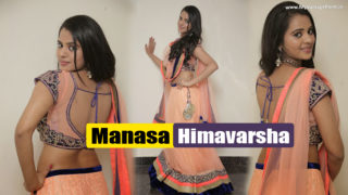 Manasa Himavarsha – Sweet & Cute Girl in Sexy Lehnga Choli Looking Stunning