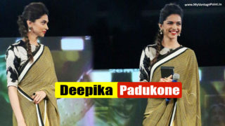 Gorgeous Deepika Padukone In Yellow Saree