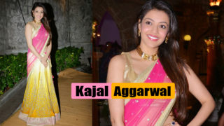 Lovely Kajal Aggarwal Latest Beautiful Pics in Half Saree