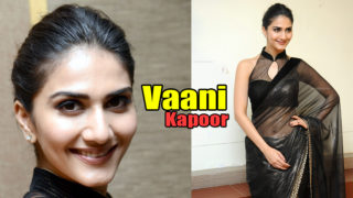 Vani Kapoor Latest Sexy Stills In a Transparents Black Saree