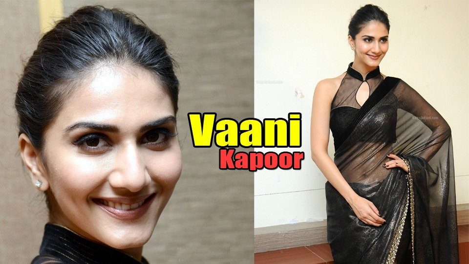Vaani Kapoor Latest Sexy Stills In a Transparents Black Saree For Promotion of Aaha Kalyanam