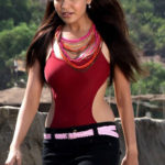 Adonika Rodricks Hot Show at Beach in Red Top & Black Skirt (1)