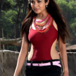 Adonika Rodricks Hot Show at Beach in Red Top & Black Skirt (11)