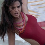 Adonika Rodricks Hot Show at Beach in Red Top & Black Skirt (13)