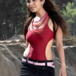 Adonika Rodricks Hot Show at Beach in Red Top & Black Skirt (14)