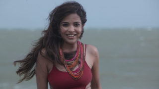 Adonika Rodricks Hot Show at Beach in Red Top & Black Skirt