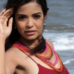 Adonika Rodricks Hot Show at Beach in Red Top & Black Skirt (21)