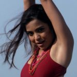 Adonika Rodricks Hot Show at Beach in Red Top & Black Skirt (8)