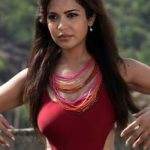 Adonika Rodricks Hot Show at Beach in Red Top & Black Skirt (9)