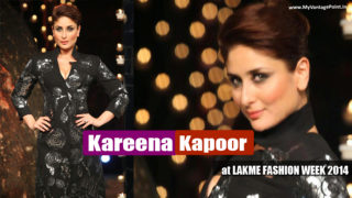 Kareena Kapoor Sexy Ramp Walk Stills at LAKME FASHION WEEK 2014
