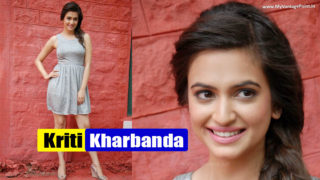 South Hot Kriti Kharbanda Sexy Leg Show at Tirupathi Express Press Meet