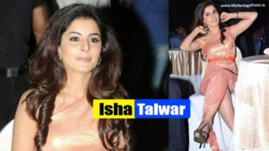 South Side Super Sexy Isha Talwar Spicy Legs Show In Public Event in Golden Gown