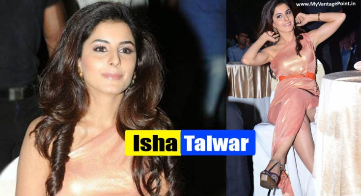 Isha Talwar at a Public Event in Golden Gown Looking Beautiful