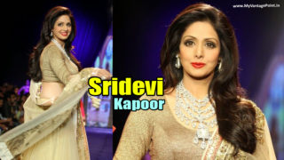 Sridevi Kapoor Walks The Ramp in her Gorgeous Style, Still Rocking @51