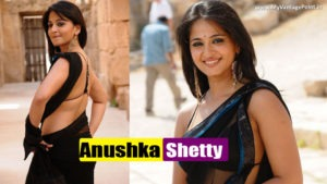Superhot Anushka Shetty in Tempting Black Saree doing Some BLACK MAGIC for YOU- Hot As Hell!!