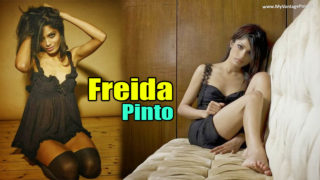 Hollywood Hottie Freida Pinto Sexy Lingerie Photoshoot Gallery