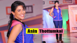 Asin Cool Ramp Walk for Big Bazaar in Jeans & Blue Jacket