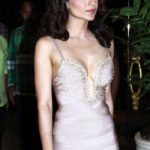 Kangana Ranaut Sexy Stills at Queen Movie Success Party in A Sexy Low Cut Silver Gown_VP (
