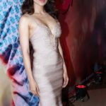 Kangana Ranaut Sexy Stills at Queen Movie Success Party in A Sexy Low Cut Silver Gown_VP ( (10)