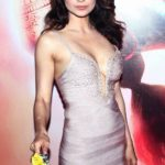 Kangana Ranaut Sexy Stills at Queen Movie Success Party in A Sexy Low Cut Silver Gown_VP ( (5)